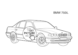 super car bmw 750il coloring page for kids printable free