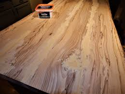 wood kitchen island top diy live edge hickory wood top kitchen island project