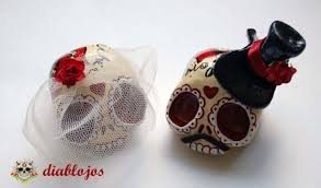 sugar skull cake topper wedding sugar skulls cake toppers and groom mexican day
