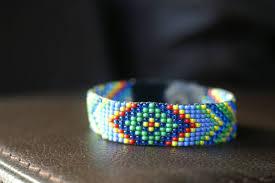 bead weave bracelet images Native american loom beaded bracelet bead by happyoak on zibbet jpg