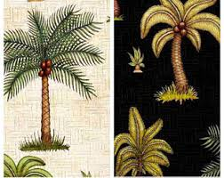 Palm Tree Upholstery Fabric Palm Tree Fabric Etsy