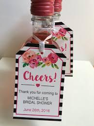 personalized bridal shower favors bridal shower favor tags for mini wine bottles wine bottle