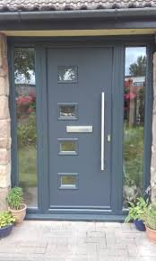 our modern range of composite doors complete with a stainless