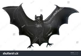 isolated plastic bat halloween decoration stock photo 17141194