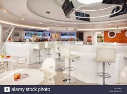 futuristic furniture interior of a modern cafe bar white futuristic furniture with