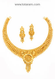 22k gold necklace earrings set indian gold necklaces