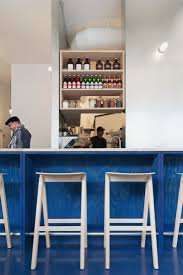 paint it blue a new wave thai restaurant in vancouver bar stools from hay dk scott and scott architects kin kao thai kitchen
