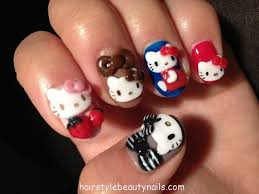147 best hello kitty nails images on pinterest hello kitty nails