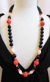pauline rader jewelry vintage pauline rader faux coral of pearl glass necklace