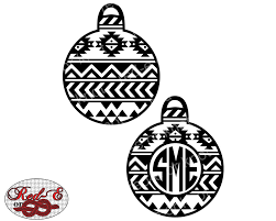 aztec ornament monogram by redeorknot on etsy https