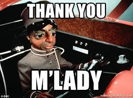 M Lady Meme - thank you m lady parker thunderbirds meme generator