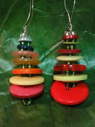 button and bead christmas tree ornament tutorial youtube