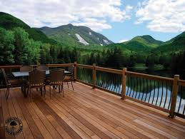 customized hardwood deck for your home improvement peak