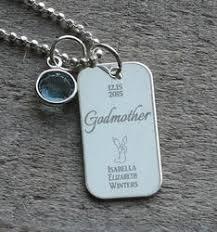 godmother necklace godmother angel birthstone necklace