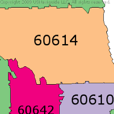 chicago zip code map near side chicago illinois zip code boundary map il