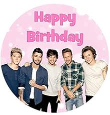 one direction cake toppers one direction happy birthday cake topper edible sugar icing 7 5