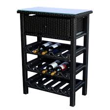 wine rack console table wicker 15 wine bottle rack bar console table stand storage tempered