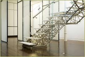 decorations amazing metal handrails for stairs design with unique frame stair and white painting wall