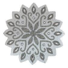 snowflake table top decorations st nicholas squareâ beaded snowflake placemat silver placemat