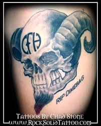 dimebag tribute skull by chad stone tattoonow