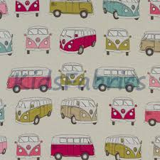 Camper Van Blinds Pink Fabric For Curtains Blinds And Duvets