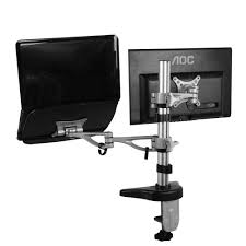 Computer Monitor Mounts Desk Fleximounts Dual Arm Desk Laptop Mount Lcd Arm For 10 In 27 In