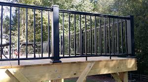 deck railings stair solution