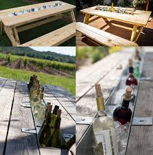 8 Ft Picnic Table Plans Free by 13 Diy Cooler Table Plans To Build For Outdoor Beer Drinks Or