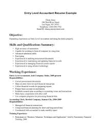 Resume Summary Statement Examples Entry Level by Resume Entry Level Resume Summary