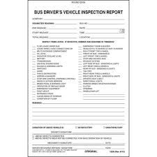 vehicle inspection report template driver s vehicle inspection report 2 ply carbonless stock