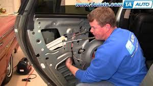how to install replace rear power window regulator chrysler