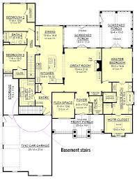 house plans with garage in basement craftsman house plan with rustic exterior and bonus above the