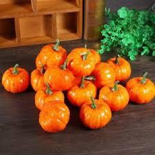 16 x artificial mini pumpkin festival garden