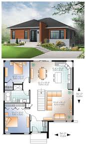 Simple Home Blueprints Signature Modern Front Elevation Simple Modern House Plans Bath