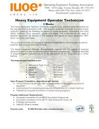 heavy equipment operator resume contegri com