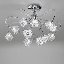 ladari moderni da soffitto lada plafoniera cromo moderno magnolia antea luce illuminazione