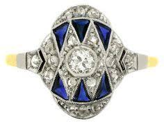 art nouveau lapis lazuli signet ring circa 1900 from berganza