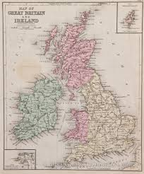 Map Of Britian Map Of Great Britain And Ireland 1878
