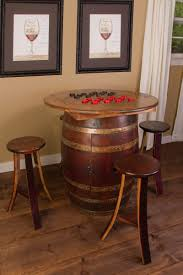 Whiskey Barrel Pub Table Whiskey Barrel Furniture Home Chair Decoration