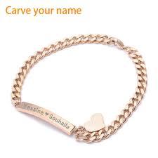 medical id bracelets for women online get cheap custom engraved bracelets aliexpress com