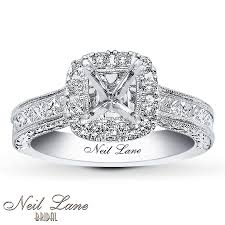 neil wedding bands jared neil ring setting 7 8 ct tw diamonds 14k white gold