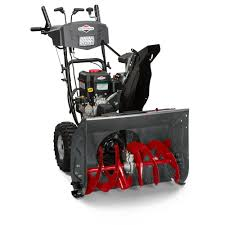 briggs u0026 stratton 27 in dual stage electric start gas snowthrower