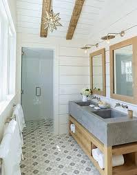 Modern Cottage Bathroom Pattern Files Geometric Tile Floors Centsational Style