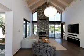 Ceiling Mounted Tv by Architecture Cozy Living Room With Wall Mounted Tv And Beige Sofa