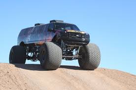 monster trucks bigfoot 5 sin city hustler combines excursion limo monster truck