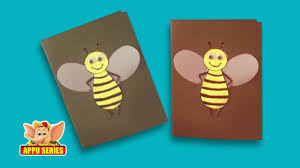 arts u0026 crafts learn to make a honey bee greeting card youtube