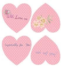 pink saint valentine u0027s day hearts gift tags free printable