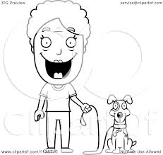 cartoon clipart of a black and white happy senior woman ready to