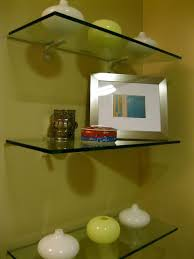 Glass Bathroom Shelving Unit by Shelving Glass Shelves In Bathroom Inspirations Glass Shelf In