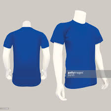 blue tshirt template vector illustration vector art getty images